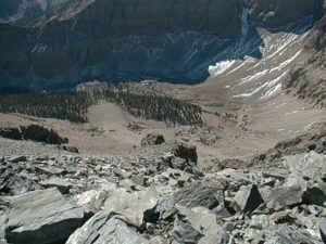 Wheeler Peak-looking south & down